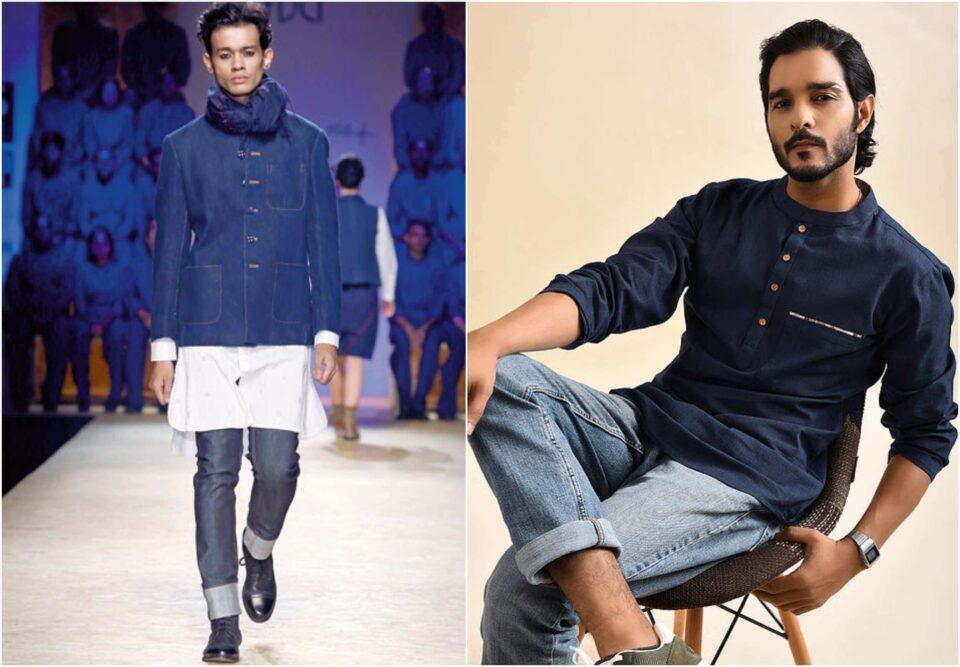 khadi kurta with jeans